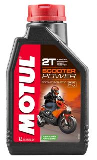 Motul 1L Scooter Power 2T olja helsyntet