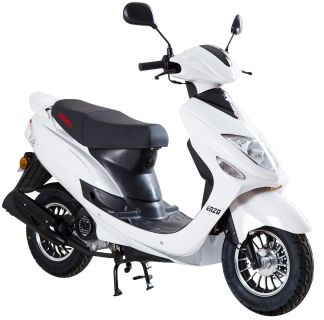 Vit moped Klass 1 från Viarelli Enzo