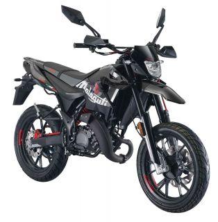 Moped från Malaguti, XSM50 i snygg Svart/Grå 0
