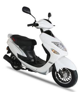 Svart Enzo - Klass 2 moped från Viarelli